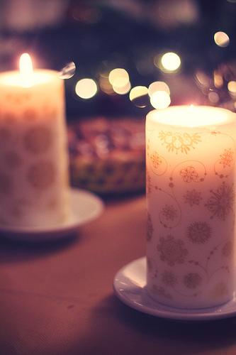 décoration de noël bougies