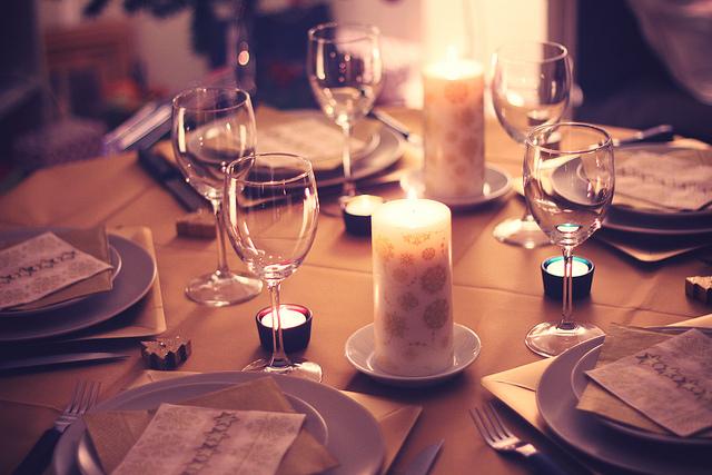 décoration de table noël