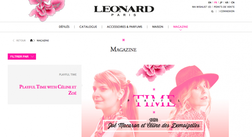 PLAYFUL TIME WITH LEONARD PARIS ZOE MACARON Presse & Web    Blog mode