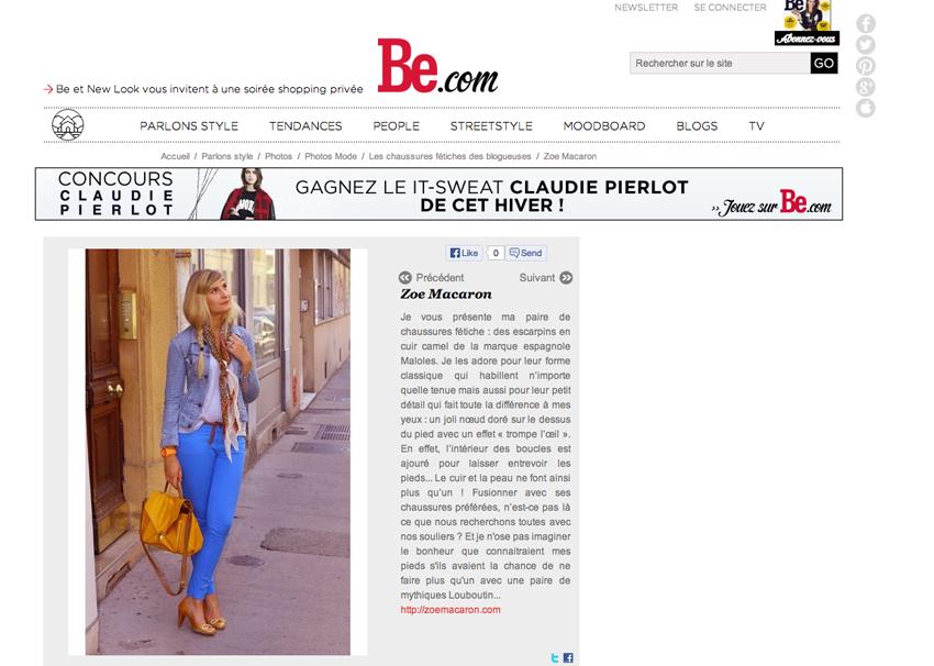 ZOE MACARON BE Presse & Web    Blog mode
