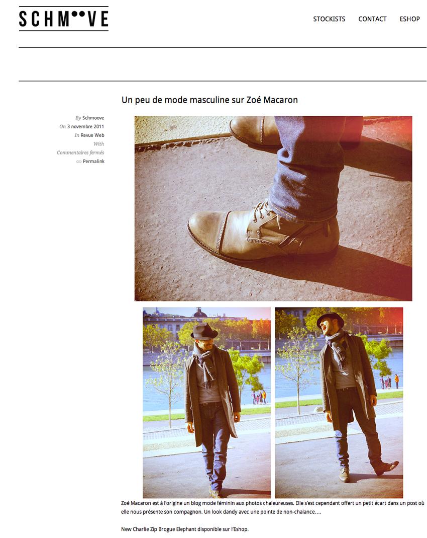 ZOE MACARON SCHMOOVE Presse & Web    Blog mode