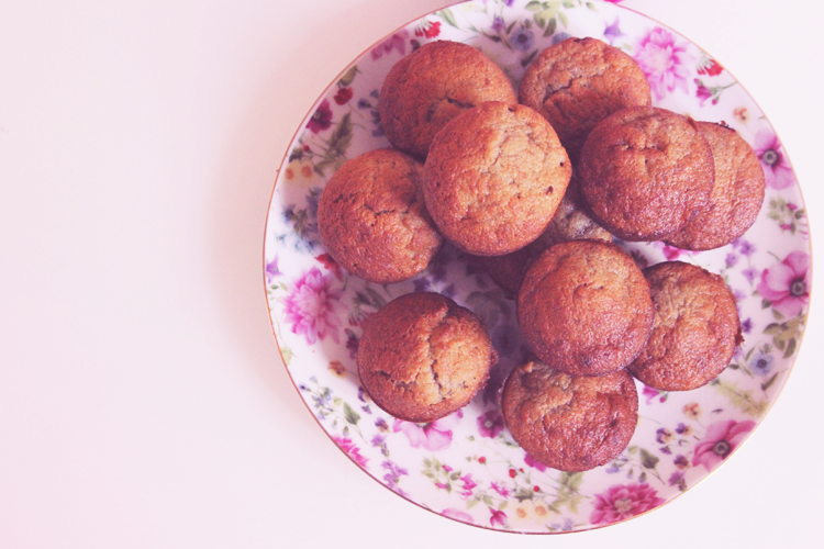 recette muffins bananes coeur chocolat noisette nutella