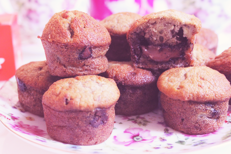 muffin bananes nutella