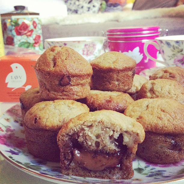 recette muffins bananes nutella