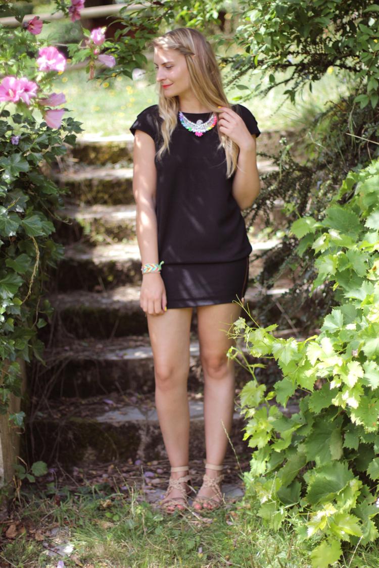 ZOE MACARON BLOG MODE VERO MODA MALOLES SHOUROUK CLUBMASTER 18 La petite robe noire    Blog mode