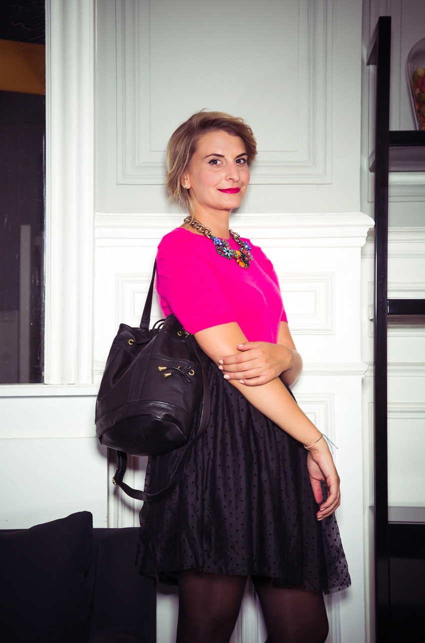 MADEMOISELLE R ZOE MACARON 51 Mademoiselle R   Look du soir    Blog mode