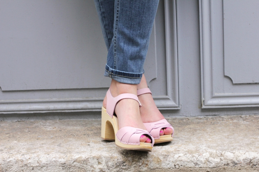 PEEP TOE SWEDISH HASBEENS PINK Gipsy Flower    Blog mode