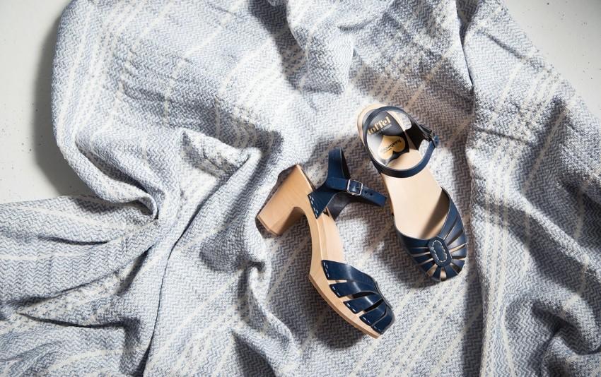 chaussures swedish hasbeens bleus nayak lyon