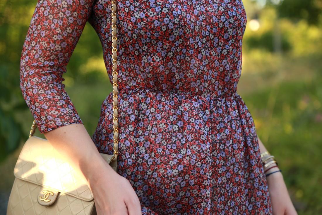 look mode lyon robe fleurs sézane