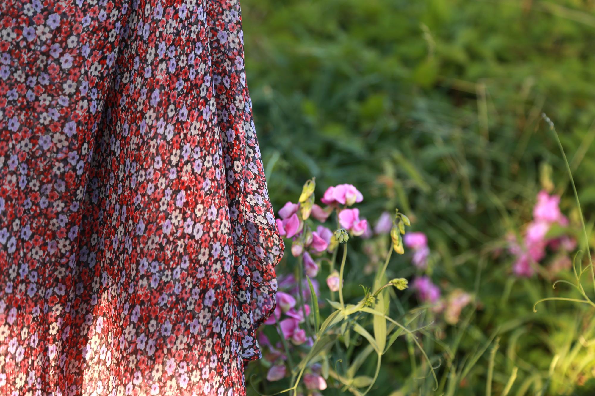robe longue fleurs sezane photo extérieur