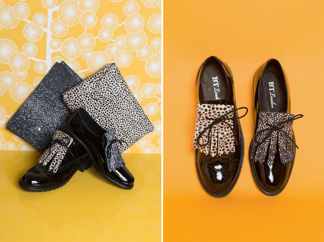Spartoo x Aurélie Chadaine bt london pochette & chaussures noir & blanc