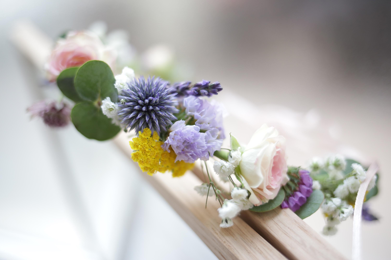 Tuto diy la couronne de fleurs fraiches zo bassetto blog mode beaut - Tuto couronne de fleur ...