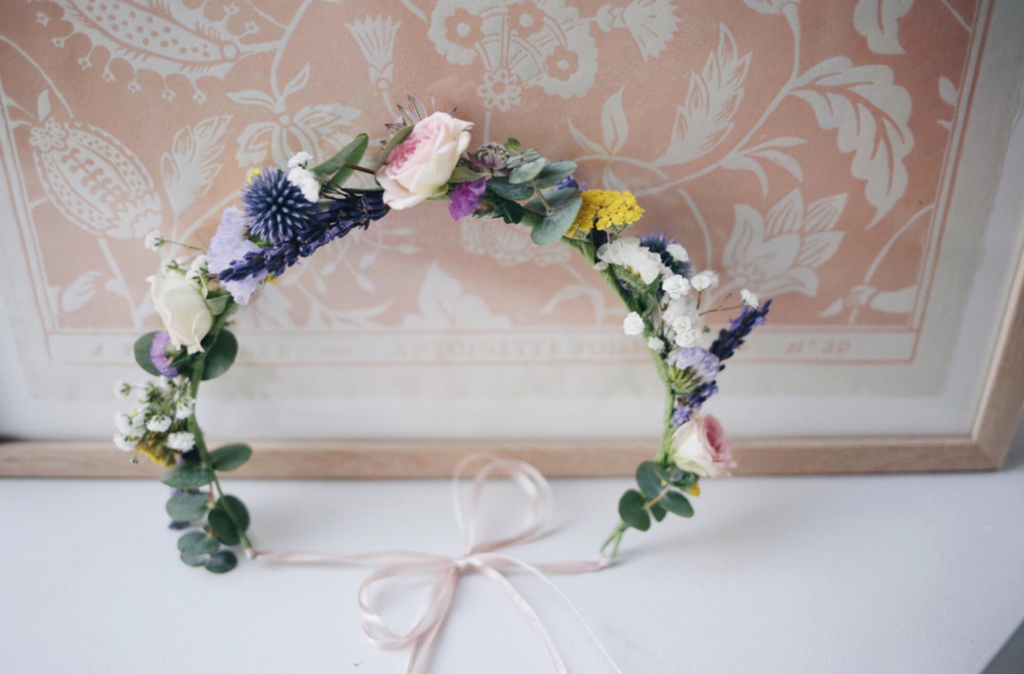 tuto diy la couronne de fleurs fraiches zo bassetto blog mode beaut lifestyle lyon. Black Bedroom Furniture Sets. Home Design Ideas